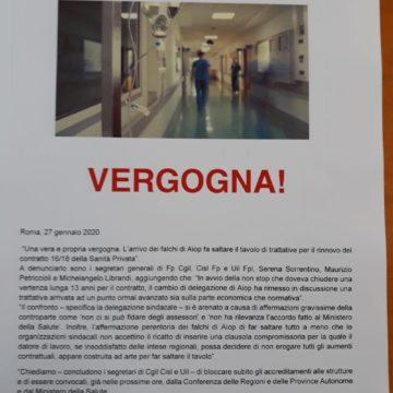 Contratti: Cgil Cisl Uil, Aiop fa saltare rinnovo Sanità Privata, riparte la mobilitazione